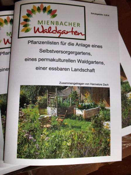 Mienbacher Waldgarten - Pflanzenlisten 2014