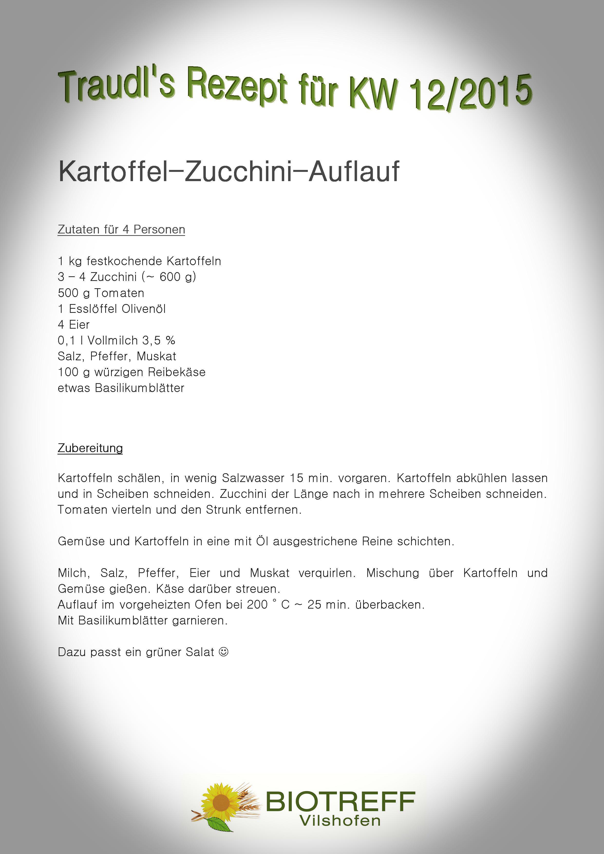 KW 12 Kartoffel-Zucchini-Auflauf