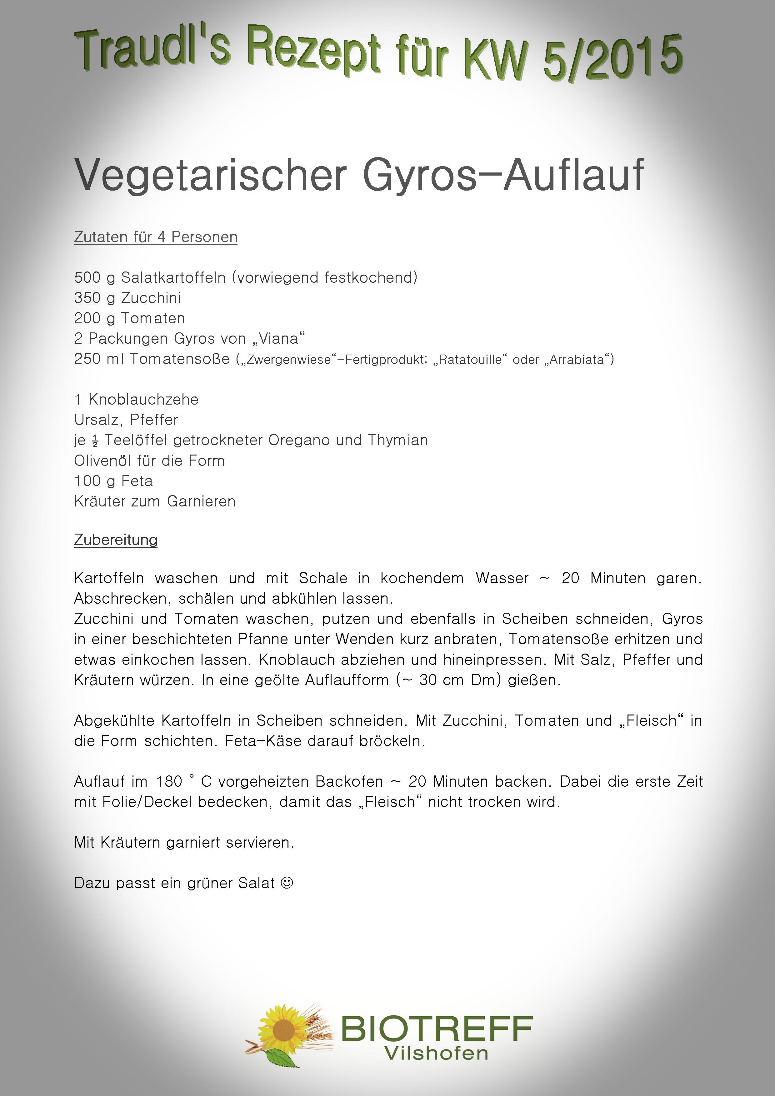 KW 5 Vegetarischer Gyros-Auflauf