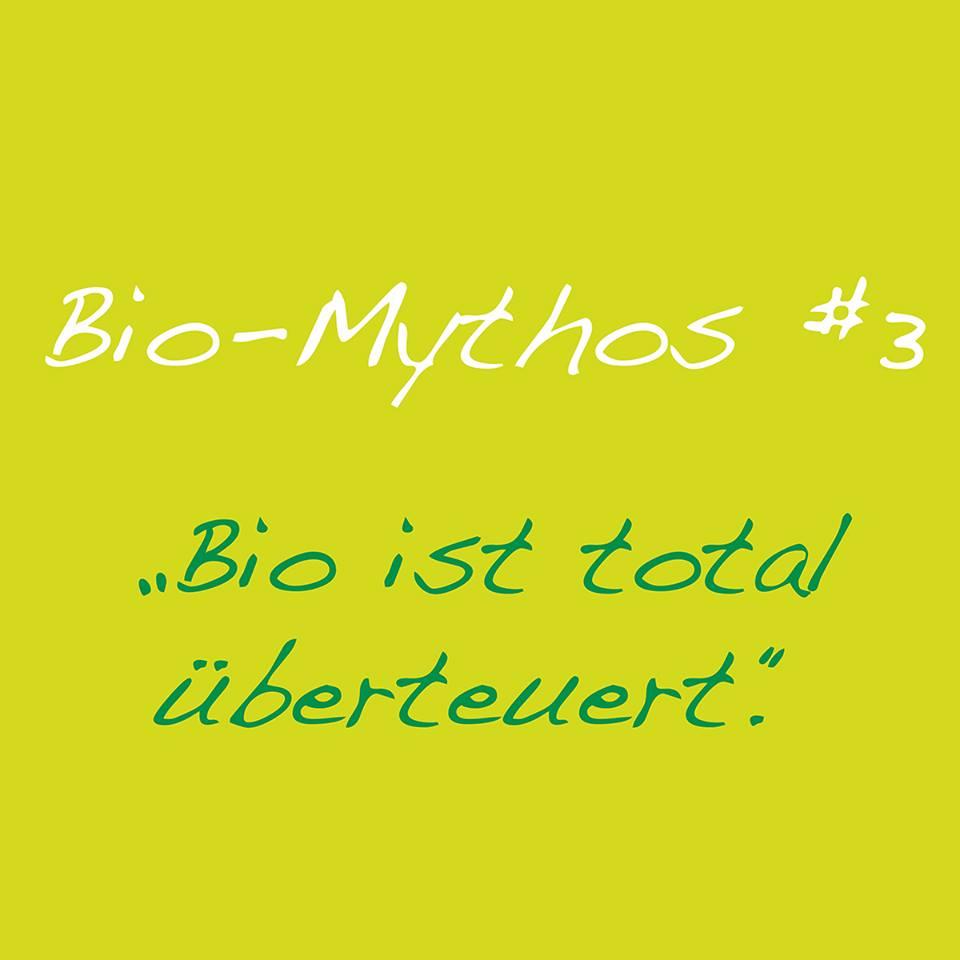 Bio ist überteuert - ein Mythos