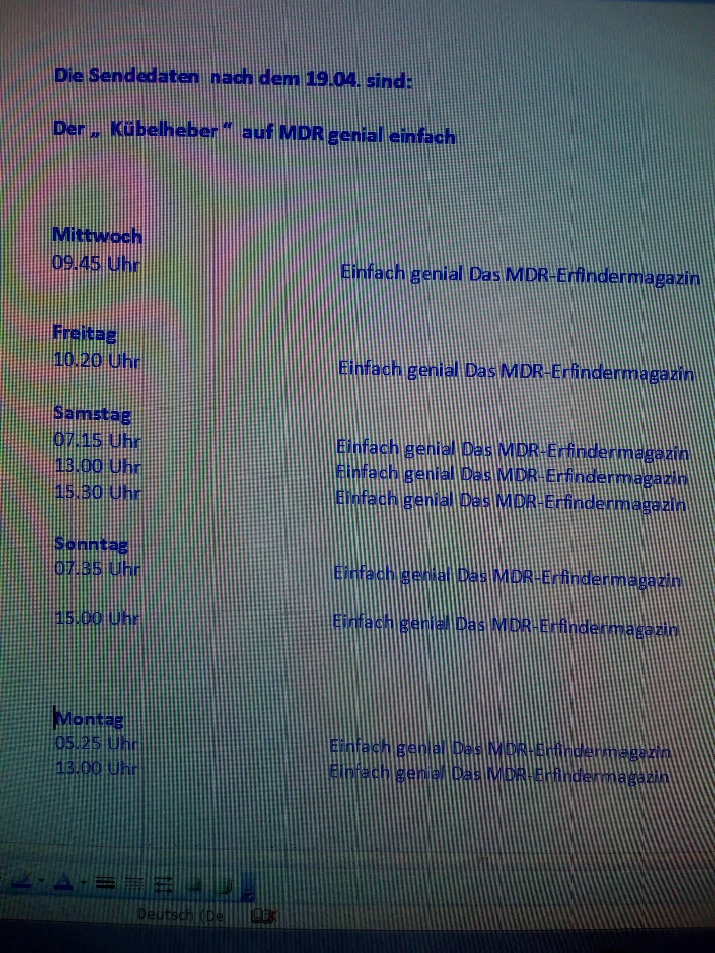 Kübelheber-TV-Vorstellung - Ferdl Zöls