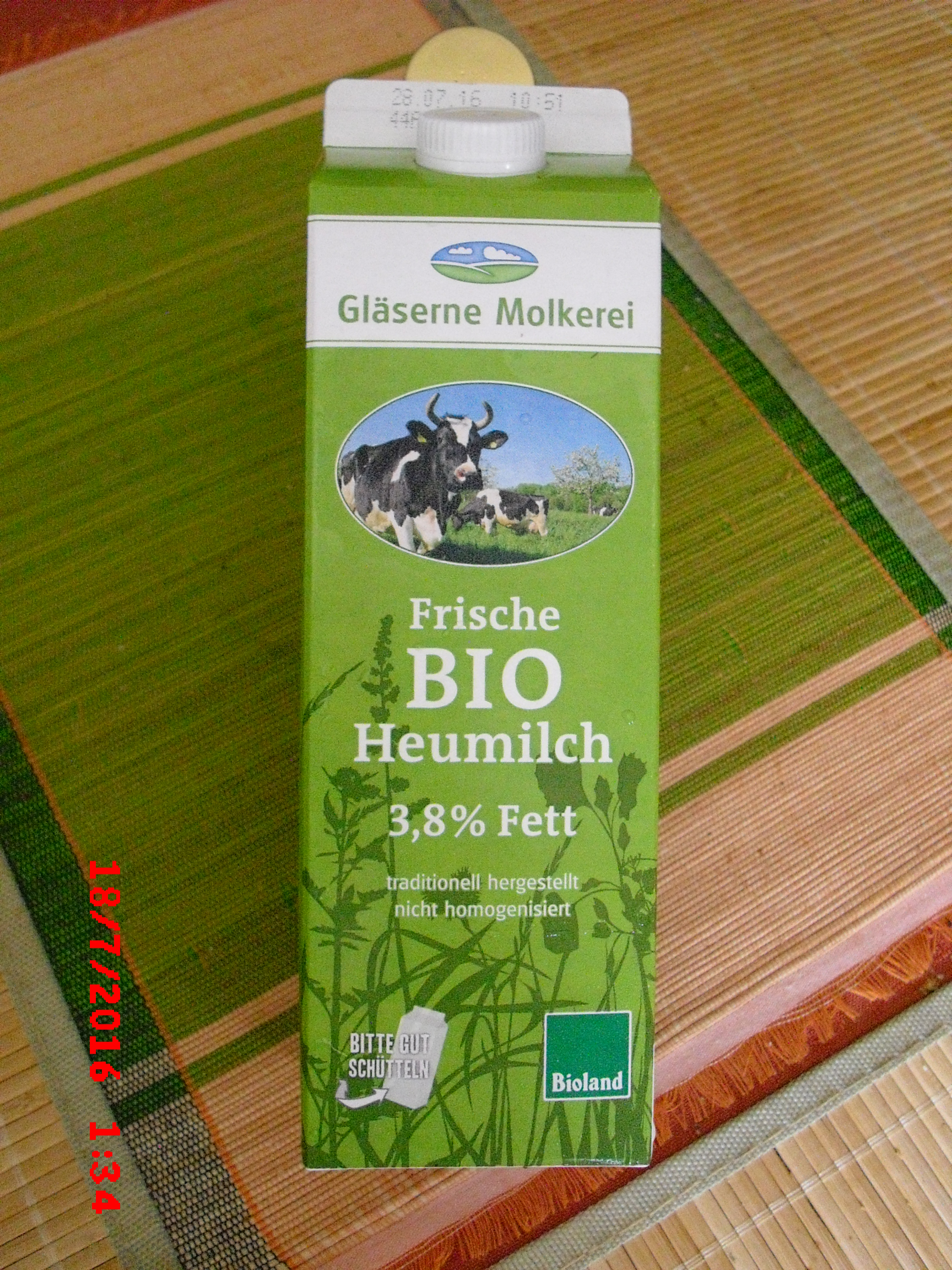 Heumilch 3,8 %